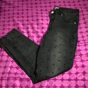 Girls Polkadot Jeans